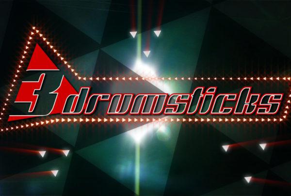 3 Drumsticks Animated Logo
