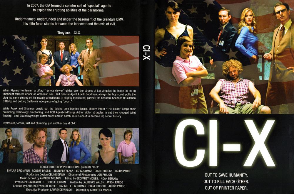 """""""CI-X"""" Comedy TV Pilot DVD Cover"""