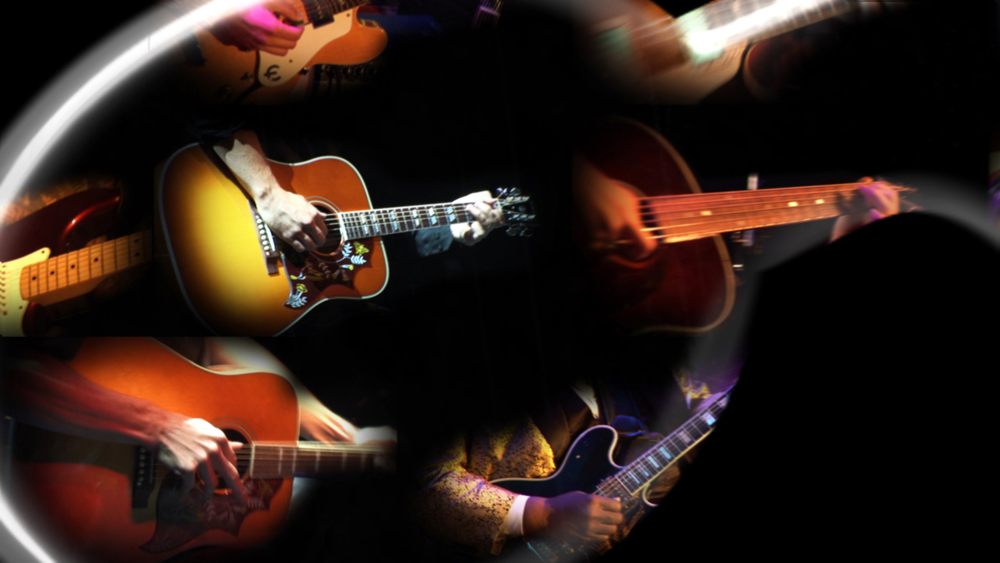 Guitar Center Logo transitioning In