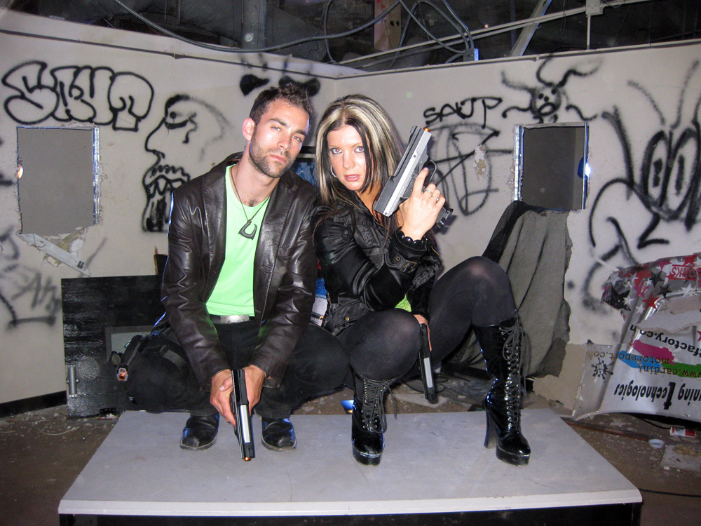 Adam & Szilva on set