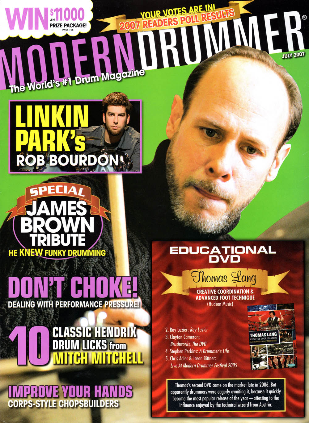 A Drummer's Life ranked in the Modern Drummer Reader's Poll