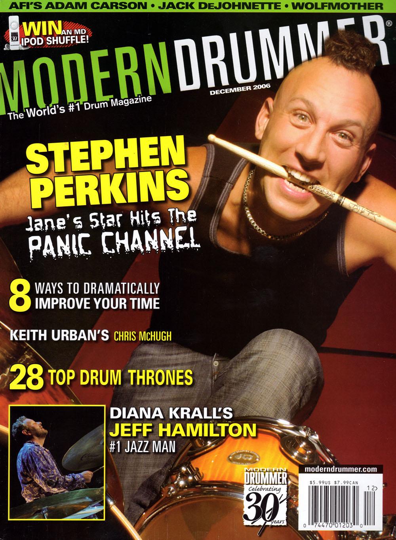 Stephen Perkins on Modern Drummer Magazine Cover