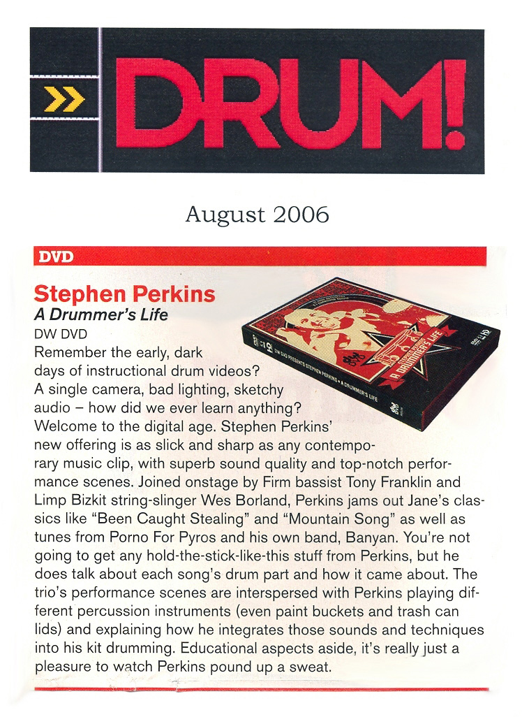A Drummer's Life reviewed in Drum Magazine