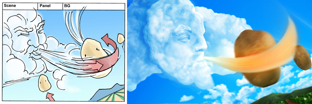 Wind God Scene w/ Storyboard
